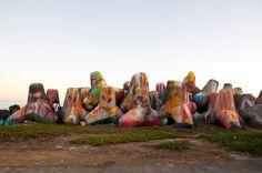 Dropping stars , collaboration with Kez ,Portugal , Azores island 2011    http://woozy.gr/woozy/murals/ https://www.facebook.com/akawoozy    #woozy #street art #graffiti #azores
