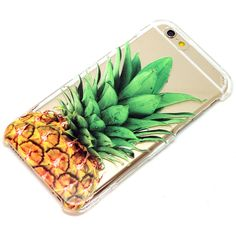 Pineapple Clear Henna Style iPhone 6, 6 Plus, 6S, 5, 5C, 5S, Galaxy... ($15) ❤ liked on Polyvore featuring accessories и tech accessories