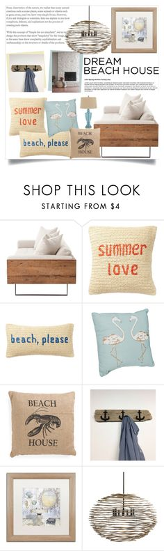 """""""Vacation Vibes: Dream Beach House"""" by anacarolinaferraz ❤ liked on Polyvore featuring interior, interiors, interior design, home, home decor, interior decorating, Nordstrom Rack, Trademark Fine Art, Arteriors and beachhouse"""