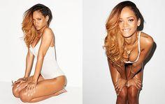 Rihanna in Base Range off white body with bra