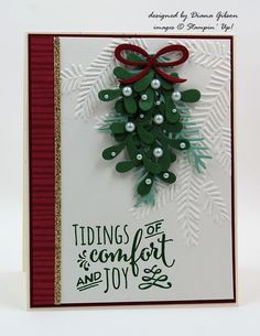 Christmas Pines, Pine Bough EF,  Pretty Pines Thinlits Dies - Stampin' Up! Holiday 2016