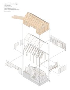 Image 8 of 27 from gallery of Fallahogey Studio / McGarry-Moon Architects. Courtesy of McGarry-Moon Architects Architecture Concept Drawings, Pavilion Architecture, Architecture Graphics, Architecture Visualization, Architecture Portfolio, Architecture Plan, Architecture Details, Architecture Diagrams, Ancient Architecture