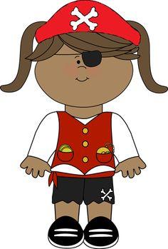 pirate girl with telescope pirate clip art pinterest rh pinterest com Walk the Plank Clip Art Pirate Map Clip Art