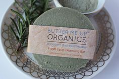 Face Wash Facial Cleansing Bar with French Green Sea Clay