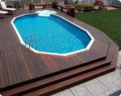 Needs a larger deck all the way around , a Jacuzzi and fire pit area. awesome-aboveground-pools-4