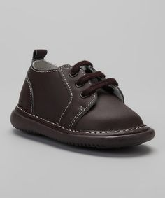 Take a look at the Wee Squeak Brown Squeaker Shoe on #zulily today!