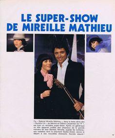 COUPURE DE PRESSE CLIPPING 1976 MIREILLE MATHIEU (8 pages)