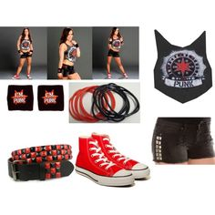 AJ Lee CM Punk Outfits