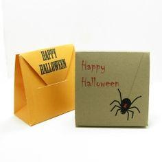 printable DIY Halloween favor box templates