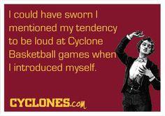 We tend to make Hilton Coliseum pretty loud at basketball games. #CyclONEnation
