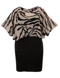 How lovely dress from NewLook! http://www.newlook.com/eu/shop/inspire-plus-sizes/shop-department/inspire-chiffon-zebra-print-bodycon-dress_266558409?icSort=Newness