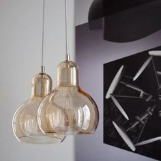 Mega bulb SR2 lamp by &tradition is made in clear or silver handblown glass with textile or pvc cord.   #nordicthink