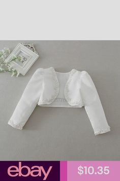 5d45c133d576 12M-3Y Kids Girls Long Sleeves Clothing Bolero Jacket Shrug Short ...