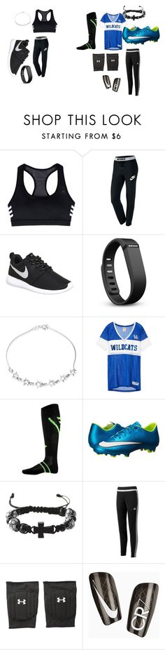 """Gym vs soccer game"" by explorer-14484921021 on Polyvore featuring adidas, NIKE, Fitbit, Bling Jewelry, Franklin and Under Armour"