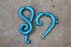 Music Clef Symbols Gauge and Fake Gauge by SwirlyGirlyGoddess, $22.99