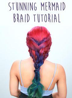 Mermaid braid tutorial #mermaidhair #braids #hairgoals