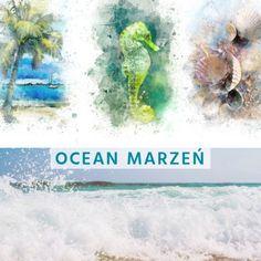 Ocean marzeń // Ocean of dreams Nasza wakacyjna podróż marzeń trwa.  Wypływamy wyobraźnią na bezkresny, spokojny ocean. Tam trafiamy na… Ocean, Decoupage, Fish, Pets, Painting, Animals, Animales, Animaux, Painting Art