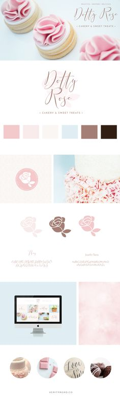 Brand & Web Design: Dotty Rose - Cakery & Sweet Treats - Mood Board, Brand Styling, Branding — Verity Road