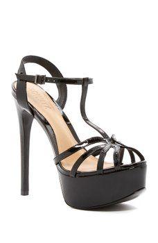 Descuentos En Línea Barato Comprar Gran Sorpresa Barato SS18 Plateau black patent leather sandals Schutz 5Ff0V