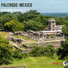 Explore the history of the Mayan Culture where the majesty of its ceremonial centers still echoes from the past. This ancient city, built by the Mayan, is situated in the North of Chiapas, Mexico.  Visit our website or contact us for information on tours we offer to Mexico or any other destination you want to visit! www.jennystravel.co.za  info@jennystravel.co.za or 012 347 8891 The Past, Mexico, Tours, Culture, Explore, Mansions, Website, History, House Styles