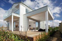 Stunning wraparound deck. House clad in Stria® Cladding by James Hardie
