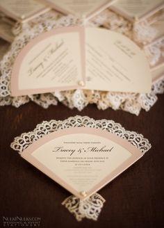 Wedding Invitation Fans | Real Weddings Stationery by Nulki Nulks