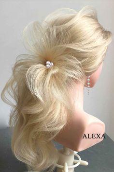 Fotogalerie svatebních účesů pro nevěsty. Svatební účesy pro blondýnky, tmavovlásky. Účesy polodlouhé vlasy, dlouhé vlasy, krátké vlasy, rozpuštěné vlasy. Earrings, Jewelry, Fashion, Ear Rings, Jewlery, Moda, Jewels, La Mode, Jewerly