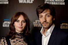 Felicity Jones and Diego Luna at Star Wars...