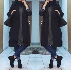 """Find and save images from the """"💜 HiJaB💛"""" collection by ŠøŞő_W on We Heart It, your everyday app to get lost in what you love. Hajib Fashion, Modern Hijab Fashion, Street Hijab Fashion, Muslim Fashion, Fashion Boots, Trendy Fashion, Hijab Style, Casual Hijab Outfit, Hijab Chic"""