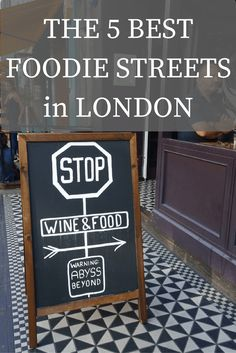 Where to Eat in London- 5 Streets for Foodies. This list, map and video show you where to go in London for a great selection of food.