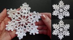 Cнежинки крючком видео   Crochet snowflake
