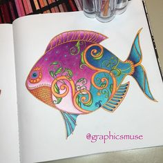 Instagram media graphicsmuse - I #lostocean #johannabasford #coloringforadults…