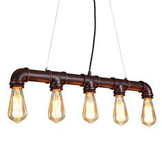 ONEPRE Industrial Steampunk Ceiling Pendant Light Chandeliers with Vintage Edison Bulb, Retro Rustic Red Color, 5 Lights Metal Water Pipe Country Rustic Lamp Hanging Lighting ONEPRE http://www.amazon.com/dp/B016CZD1NO/ref=cm_sw_r_pi_dp_3yLqwb0MCNJ6P