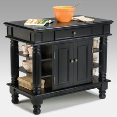 Home Styles Americana Ebony Kitchen Island