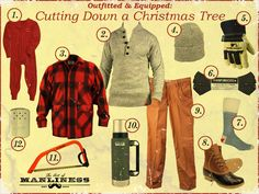 Outfitted & Equipped: Cutting Down a Christmas Tree
