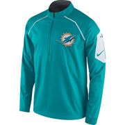 b37d7d79ea0e Miami Dolphins Nike Alpha Fly Rush Half-Zip Jacket - Aqua