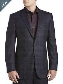 Jack Victor® Tonal Windowpane Wool Sport Coat