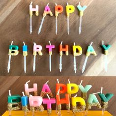 Happy Birthday Candles Rainbow Happy Birthday Candles by HullaballoonsParty on Etsy Blush Bridal Showers, Rose Gold Balloons, Happy Birthday Candles, Rainbow Birthday Party, Gold Candles, Balloon Bouquet, Gold Dipped, Latex Balloons, Birthday Party Decorations