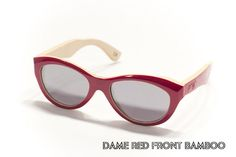 Fresh Handmade Sunglasses From Proof Eyewear.    Love this warm tone of Red