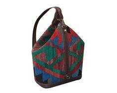 Small Kilim Backpack Vintage Kilim Bag Carpet Bag by DjemKilim