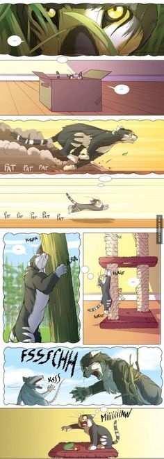 Cute Comic That Illustrates Cats Have A Very Creative Imagination