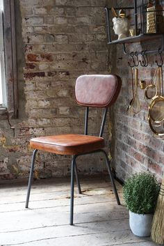 The Stockard Leather Dining Chair - View All - Furniture
