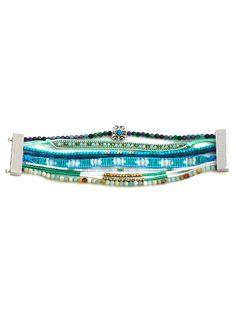 Faux Turquoise Beaded Bracelet #jewelry, #women, #men, #hats, #watches, #belts, #fashion