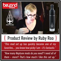 Ruby Roo talks about Beyond Vape's Hybrid Dripper Mod, the Neptune.