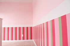 Girls bedroom?  A bit too much pink, would need to add other colors.  And it certainly doesn't go with their blue bed and dresser!