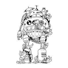 Leuk voor kids kleurplaatDoodle (Doodle Invasion) door Kerby Rosanes