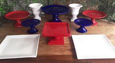 Kit Festa Branco Azul e Vermelho — ALUGUEL by Design Festeiro