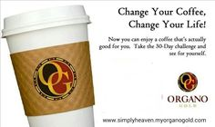 Presentation Organo Gold - The healthy coffee that pays! Big Coffee, Coffee Cups, Donuts, Herbal Extracts, Coffee Drinkers, Blended Coffee, Take The First Step, 30 Day Challenge, Website