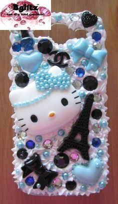 Frosted Blue Kitty Samsung Galaxy S3 Phone Case by BGLITZ on Etsy
