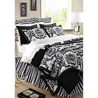 Image result for black & white twin bedding